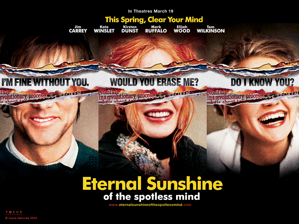 a review for eternal sunshine of the spotless mind How happy is the blameless vestal's lot the world forgetting, by the world forgot eternal sunshine of the spotless mind each pray'r accepted, and each.